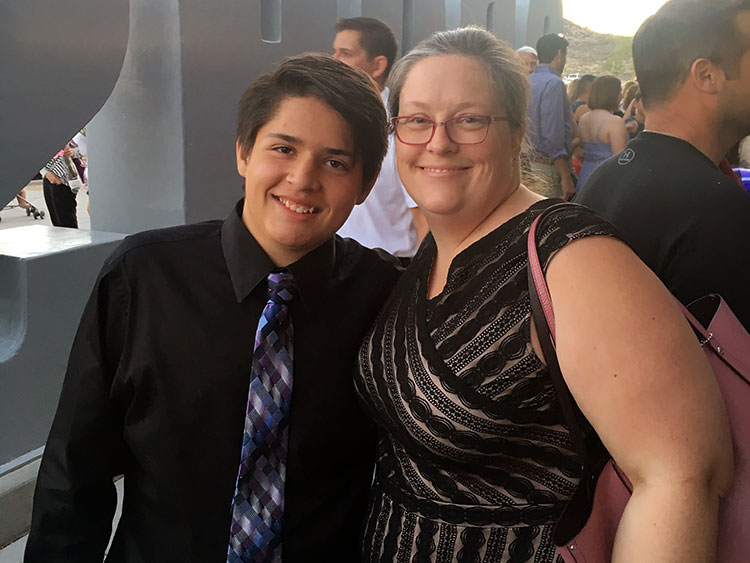 My son Daniel's promotion to high school
