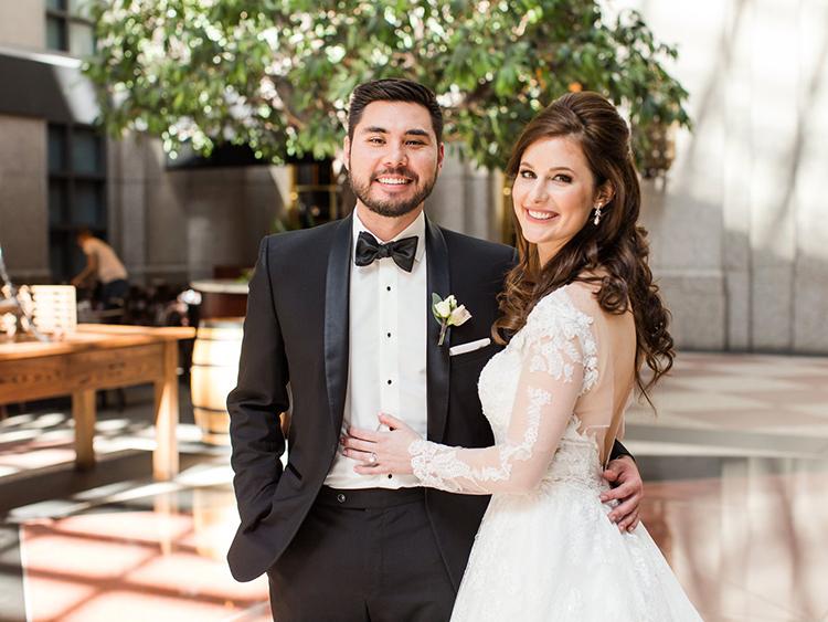Ellen and I at our wedding in Atlanta, GA